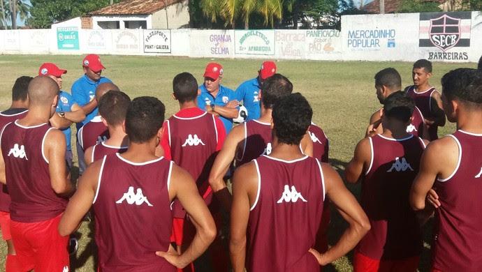 América-RN - Aluísio Moraes - treino em Coruripe - jogadores (Foto: Canindé Pereira/Divulgação)