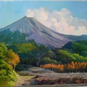 Gambar Pemandangan Gunung Sawah