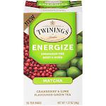 Matcha Cranberry Lime Green Tea Energizes the Mind Body (18 Tea Bags)