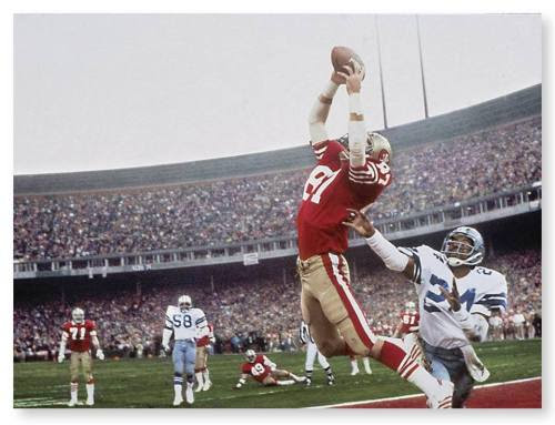 "ON THIS DATE (1/10/1982)<br />32 years ago, 49ers WR Dwight Clark caught a game winning TD from QB Joe Montana during the NFC Championship game to beat the Dallas Cowboys 28-27.Known as ""The Catch"" it's one of the greatest plays in NFL history."