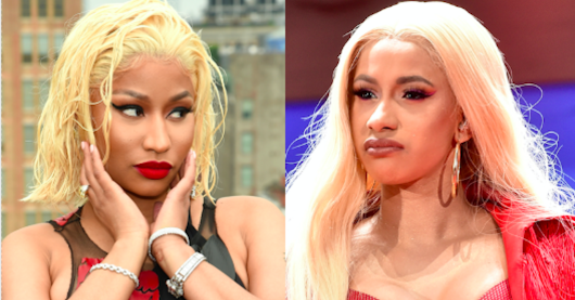 Fans are convinced Nicki Minaj has just taken another jab at rival Cardi B on new track