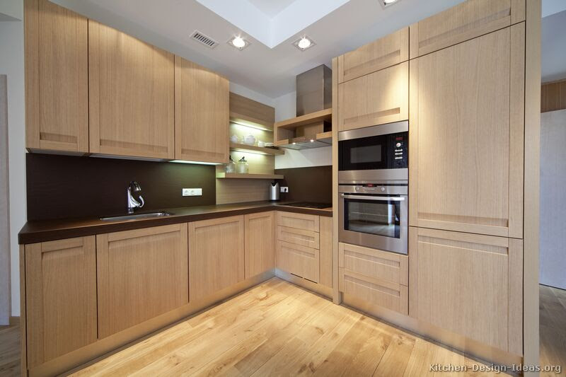 Wood Kitchen Cabinets Light Colored Wood Kitchen Cabinets