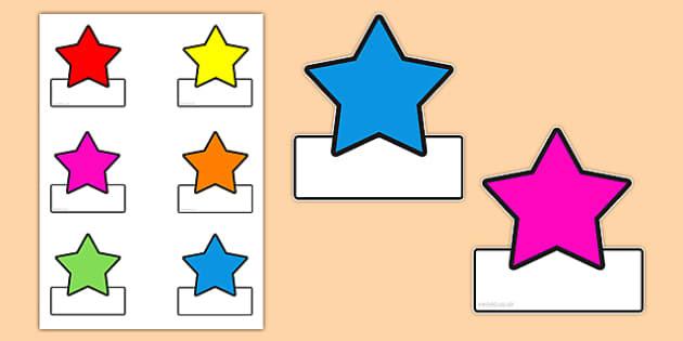 Star Labels - labels, star labels, editable labels
