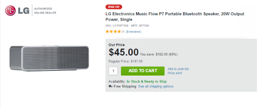 Awesome Deal On Amazing Bluetooth Speaker: LG P7 Music Flow Only $45!!! - Nexus 7 News -  - Front Page Comments and Discussion - The #1 Nexus 7 News, Discussion and Fan Site!