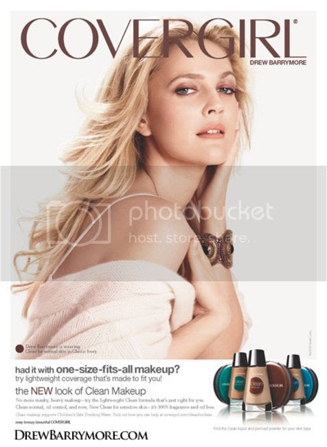 drew barrymore covergirl summer/spring 2010 ad campaign