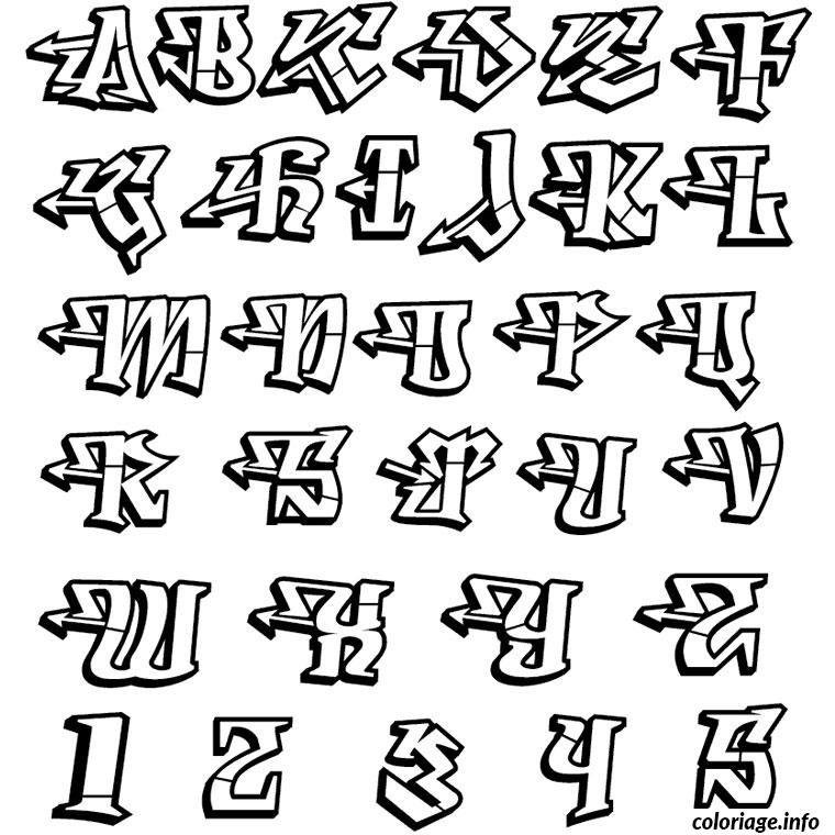 Coloriage Lettres De L Alphabet Jecoloriecom