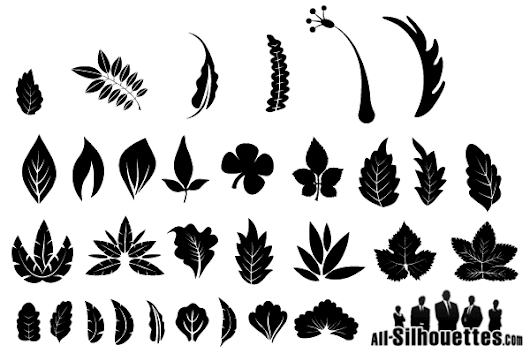 Free Graphics: Vector Leaf Silhouette - 365psd