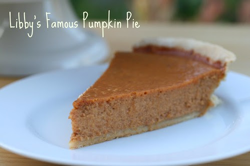 Food Librarian - Libby's Famous Pumpkin Pie