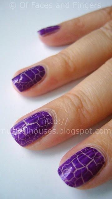kelier purple shatter nail polish 3