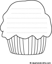 7 best images of printable coloring clip art cupcakes  cupcake coloring pages printable