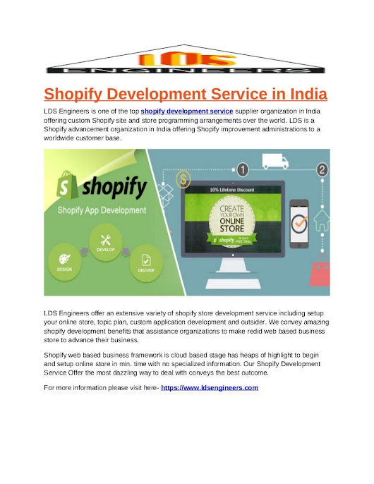 Shopify Development Service in India | LDS Engineers