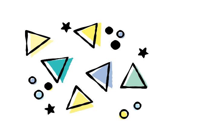 丸と三角と星だけでつくる手描き風パターン 鈴木メモ