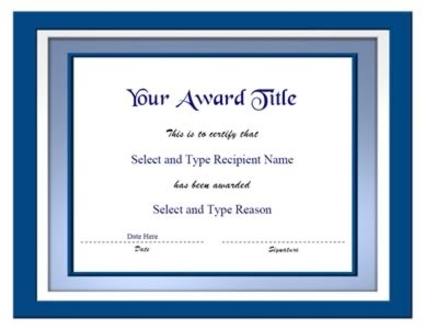 Powerpoint Templates Free Download Blank Certificate