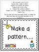 Patterns Freebie...Back to School Theme for Centers.