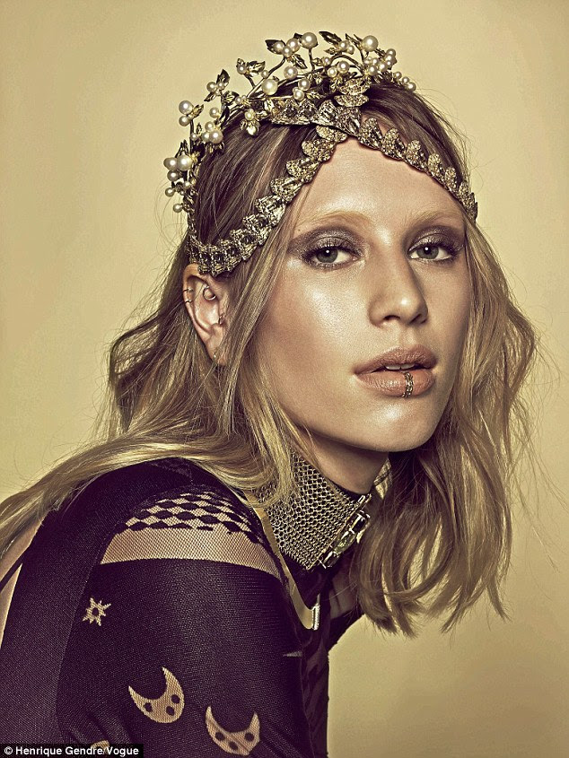 She is working with the best: The blonde beauty was photographed by Henrique Gendre