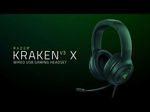 Razer Kraken V3 X, gaming headset with 40mm TriForce drivers
