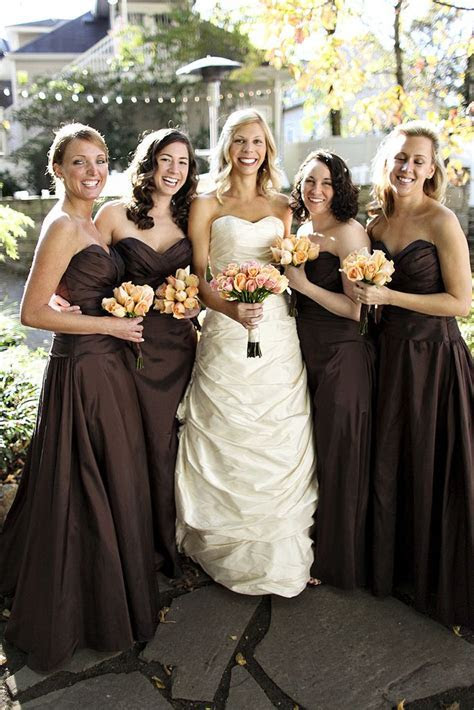 25  best ideas about Brown bridesmaid dresses on Pinterest