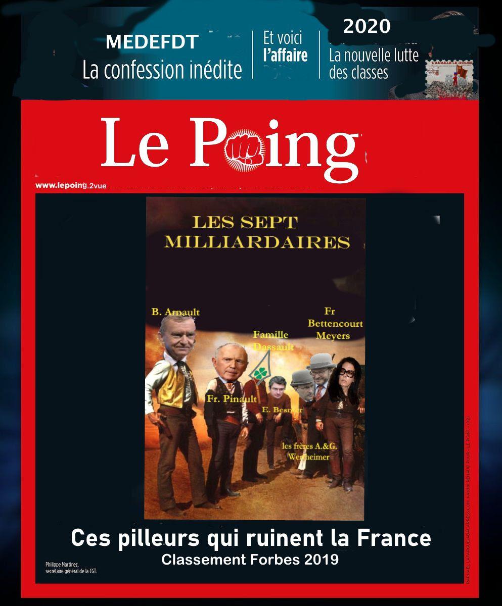 Les 7...Milliardaires ; qui sont ceux qui ruinent la France ?