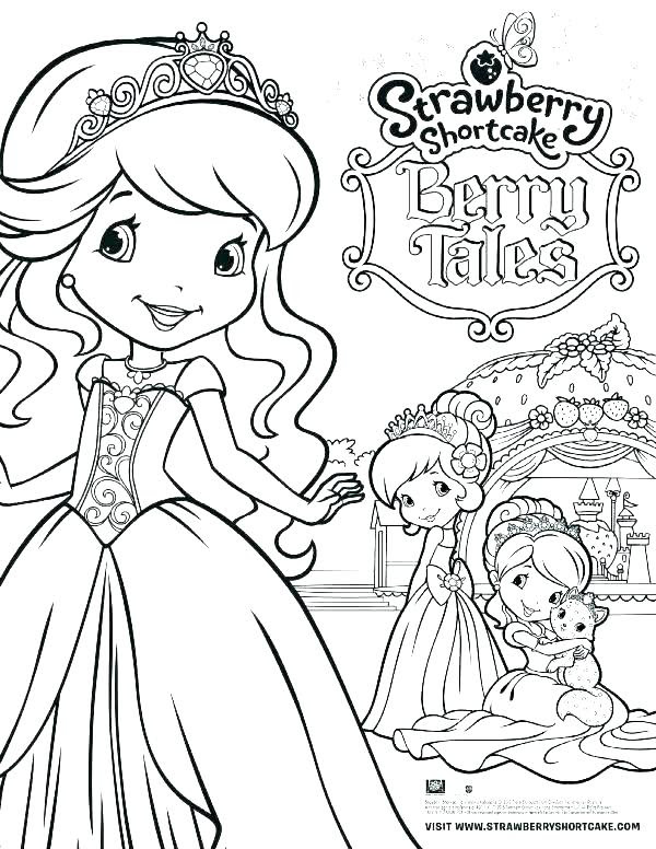 Princess Strawberry Shortcake Coloring Pages At Getdrawingscom