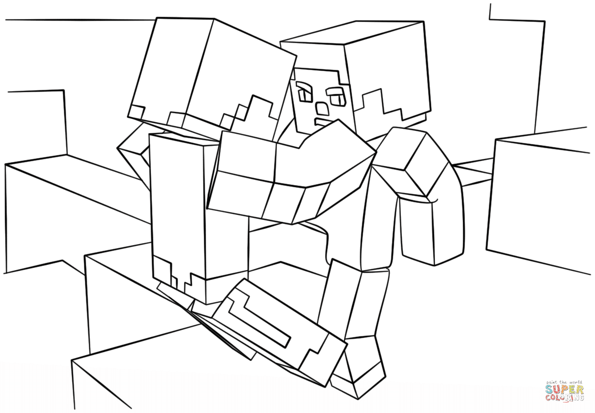 Steve Minecraft Drawing At Getdrawingscom Free For Personal Use