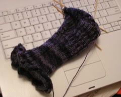 Black Purl Sock