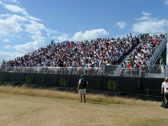 A grandstand at Muirfield.