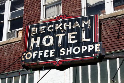 beckham hotel neon sign