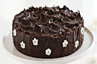 Chocolate mud cake with milk frosting and ganache