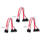 Aleratec 1:1 Slimline SATA to SATA Female/Male with Power 8 in 3-Pack