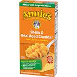 Annies Macaroni & Cheese, Shells & Real Aged Cheddar - 6 oz