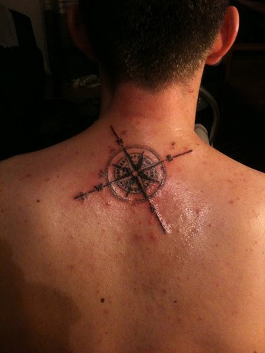 Compass Tattoo Ideas On Neck Back For Men A Photo On Flickriver