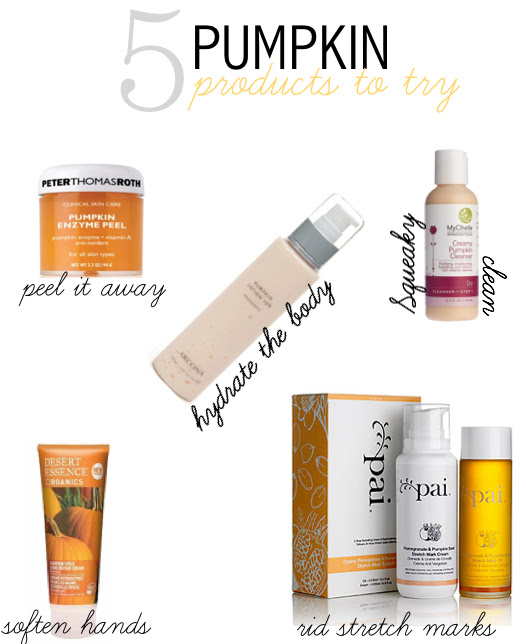 5 PUMPKIN PRODUCTS