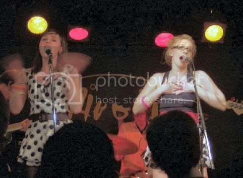 Rose and Becki of The Pipettes @ Rivoli: photo by Michael Ligon
