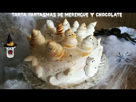 TARTA DE FANTASMAS MERENGUE Y MOUSSE DE CHOCOLATE (MOULINEX CUISINE)