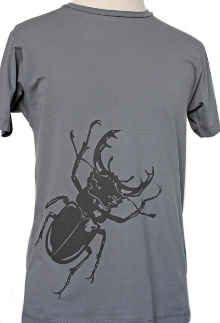 Men's Charcoal Stag Beetle T-shirt