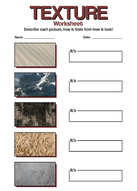9 Best Images of Drawing Texture Worksheet - Art Texture Worksheet, Art Texture Drawing Examples and Visual Textures Drawings /