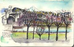 Portland, Oregon - Waterfront/Morrison Bridge (NaNoDrawMo #45)