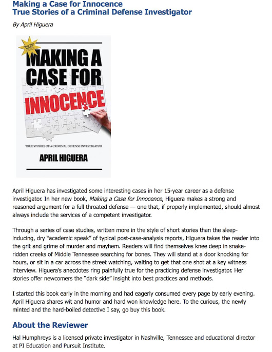 "Book review: ""Making a Case for Innocence"""