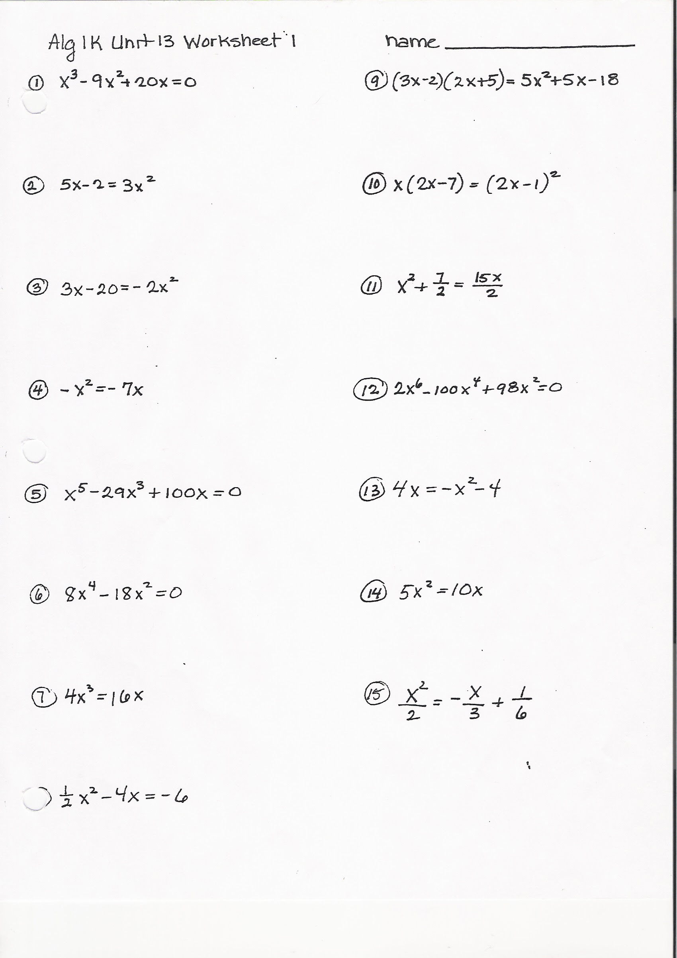 - 34 Algebra 2 Factoring Worksheet - Worksheet Resource Plans