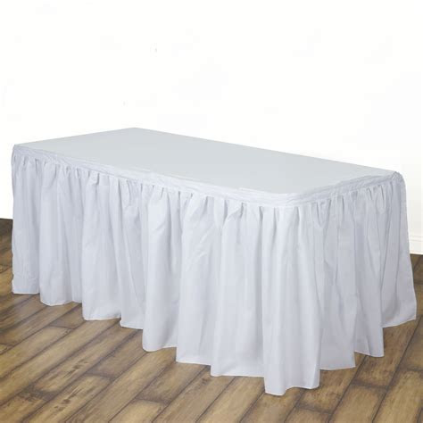 """17 feet x 29"""" Polyester Banquet Table Skirt Wedding Party"""