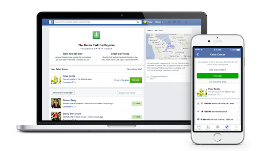 Facebook Launches Safety Check Feature for Natural Disasters