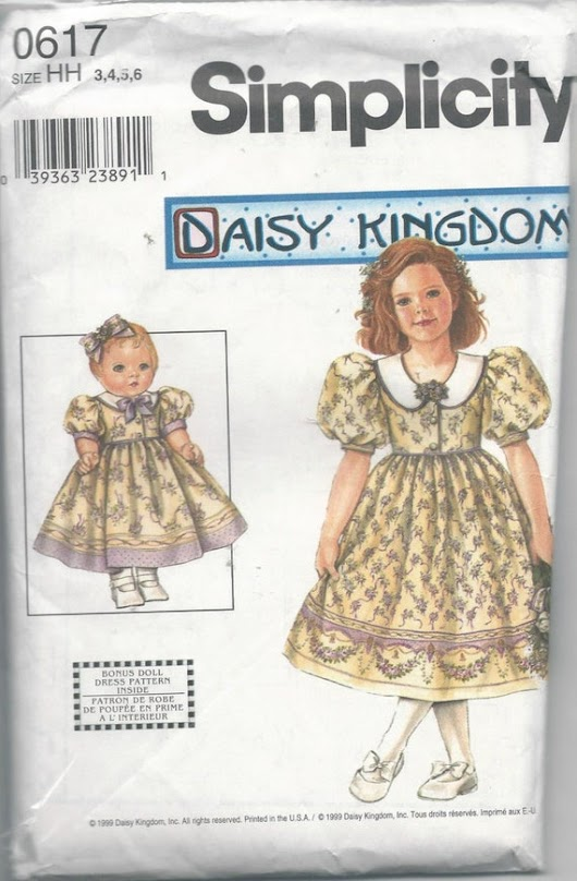 Simplicity 0617 Girls Daisy Kingdom Dress by VintageSewingShoppe