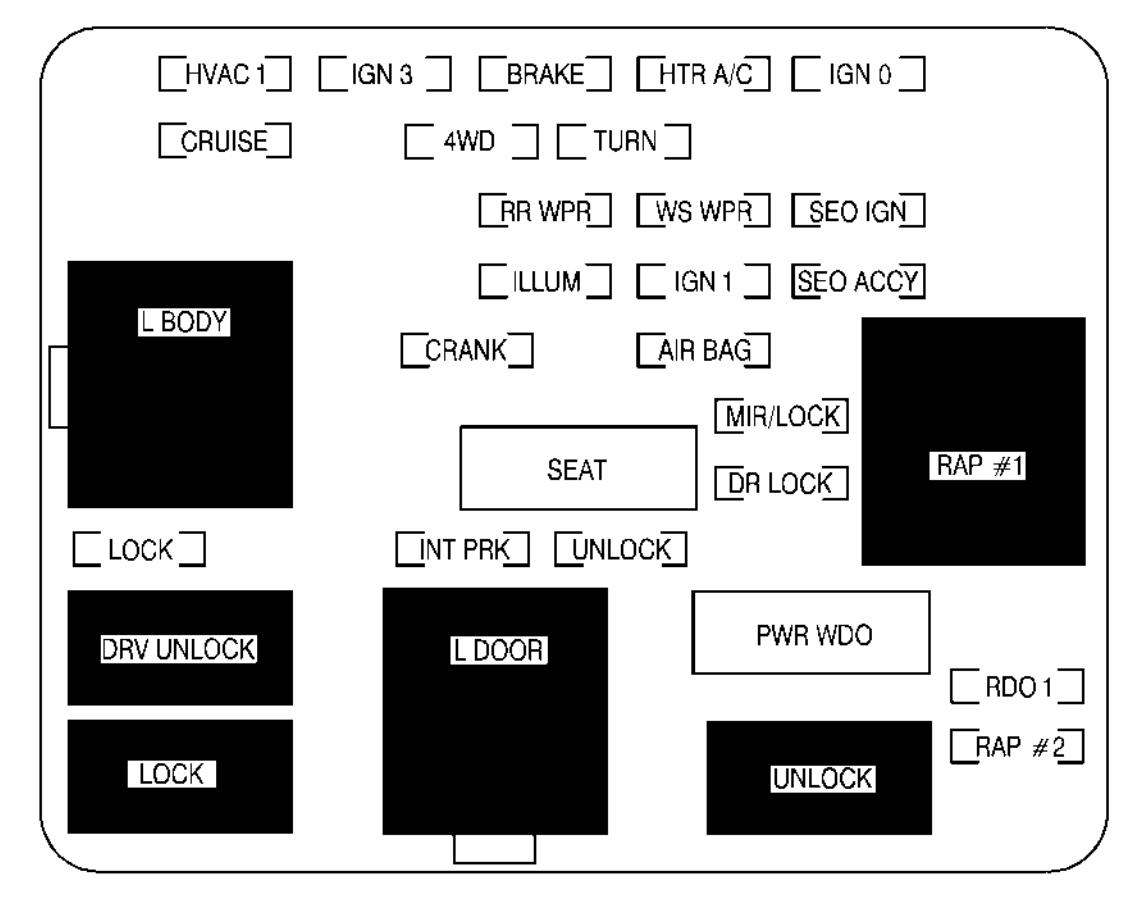 Chevrolet Suburban 2002 Fuse Box Diagram Auto Genius