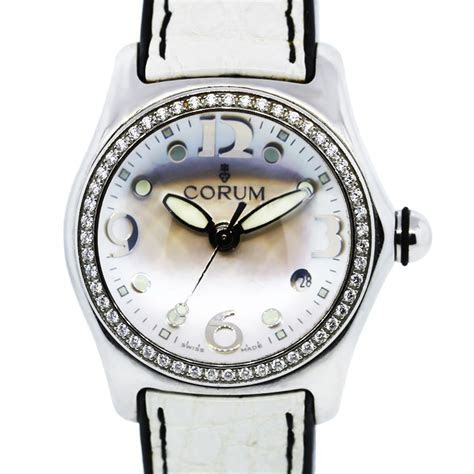 Corum Bubble 39.151.47 Mother of Pearl Dial Diamond Bezel