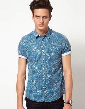 Image 1 ofASOS Bandana Print Shirt
