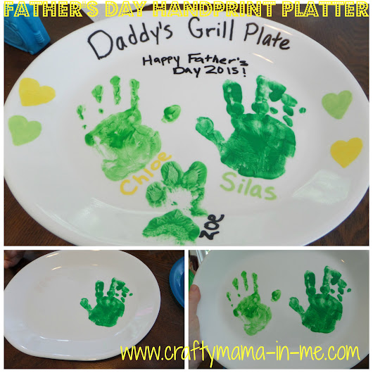 Father's Day Handprint Platter - Crafty Mama in ME!