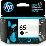 HP 65 Genuine Ink Cartridge N9K02AN Standard Yield HP Cartridges For Better Quality Printing, Black (New Open Box)