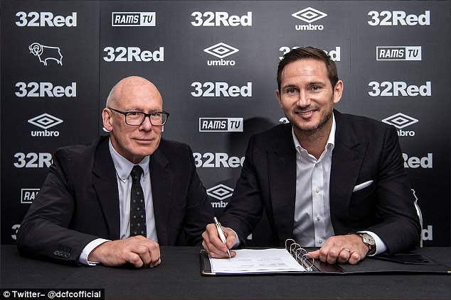 Frank Lampard has agreed to become the new Derby County manager on a three-year deal
