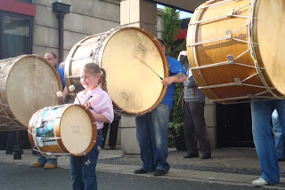 Lambeg drums at the launch of Orangefest 2008