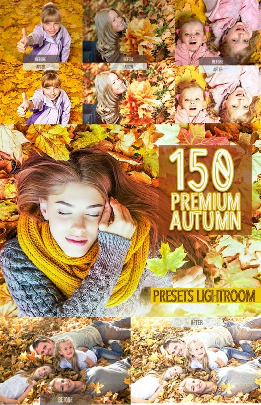 150 Premium Autumn Lightroom Presets - Master Bundles